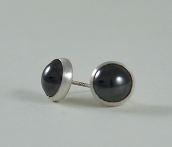 Black Stud Earrings for Men or Women by GioielliJewelry