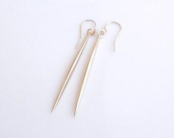 Gold Spike Spear Earrings