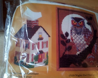 Creative Circle Needlepoint Owl and House 2 in 1