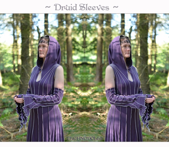 Druid Sleevies ~ Armwarmers ~ Custom Made ~ Cotton Jersey ~ Reveal your inner Goddess ~ Faerie Clothing ~ Technodolly