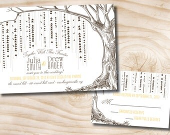 Willow Tree Wedding Invitation and Response Card - You Print