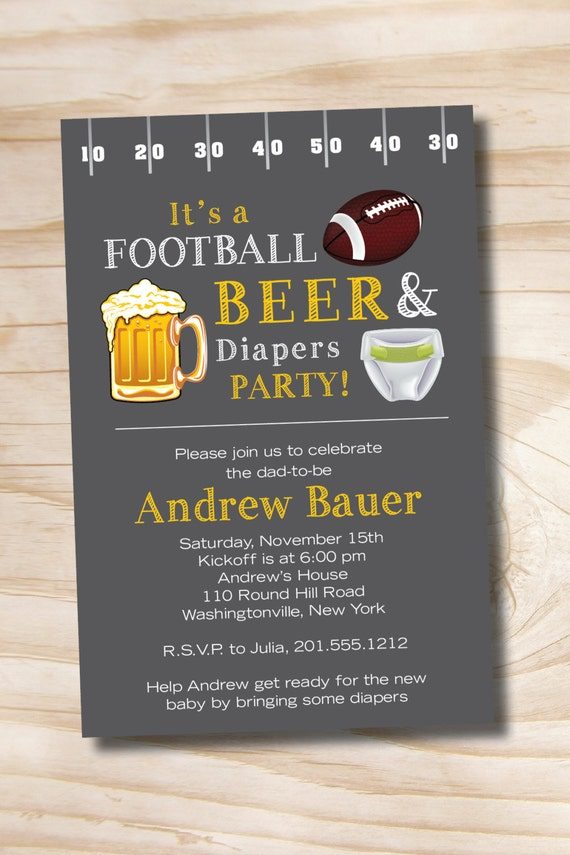 Football Beer Amp Diapers Bbq Beer And Babies Diaper Party
