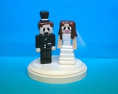 Wedding Minecraft Cake Toppers  (made to order)
