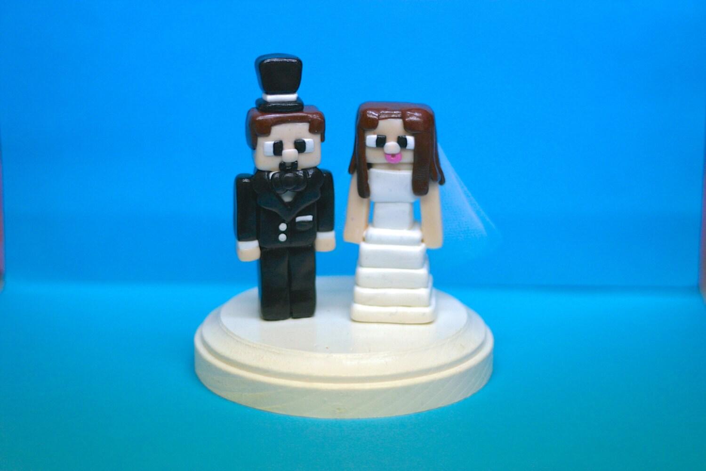 Minecraft Character Wedding Cake Toppers Custom Wedding Cake