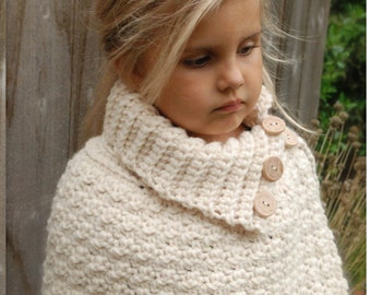 CROCHET PATTERN - Finleigh Cape (12/18 months, Toddler, Child, Adult sizes)