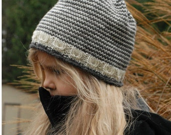 KNITTING PATTERN-The Snowlynn Hat (Toddler, Child, Adult sizes)
