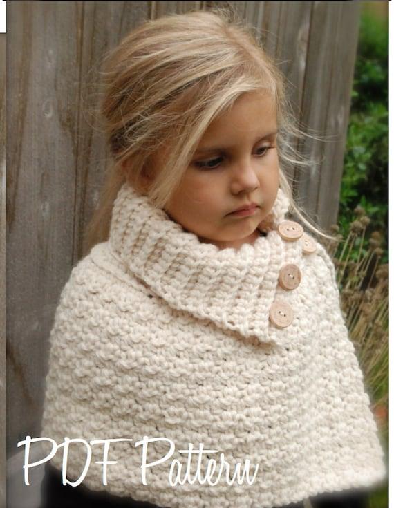 CROCHET PATTERN Finleigh Cape 12/18 months Toddler Child