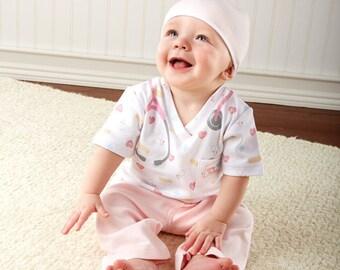 Personalized Baby Nurse 3-Piece Layette Set