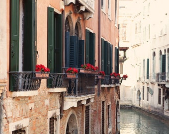 Italy Photograph - Fine Art Photography, Venice, Italy, canal, print, tranquil, home decor, wall art, italy art, colorful, art, travel