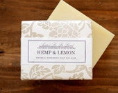 SALE - Hemp & Lemon Shampoo Soap - Big Bar, Cold Process Soap, Hair Bar Soap, 100% Natural