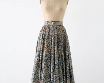 1950s southwestern circle skirt, Taos Fiesta Fashions by Art Kay
