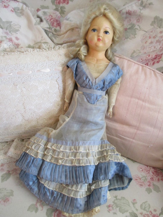SaLe SaLe GORGEOUS Antique Wax Head Doll Blonde by ...