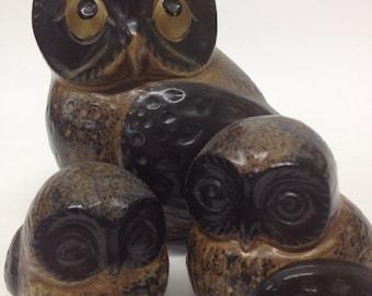 Owl Trio // Vintage Owls