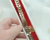 SALE Vintage Gold Gemex Watch Band