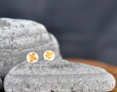 Little orange flowers - Earrings