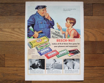 Vintage August 29, 1938 Life Magazine Beech-Nut Advertisement - Gin Ad - Norman Rockwell