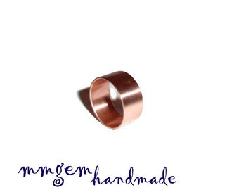 Wide ring, copper ring, band ring, wedding ring, Copper ring wide / CR7