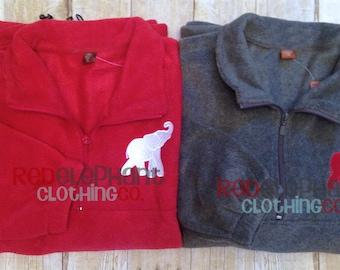 Monogrammed Quarter Zip Pullover, Monogrammed Pullover Jacket, Monogrammed Quarter Zip Jacket, Monogrammed Jacket, Fleece, UNISEX FIT