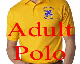 FishHawk Creek Elementary Uniform Adult Jersey Polo with SpotShield 4 Colors to Choose From