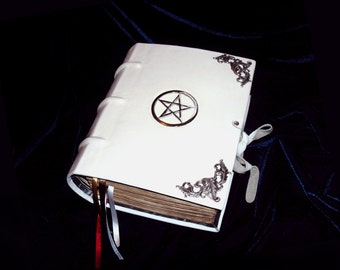 9x12 Deluxe Book of Shadows, Grimoire, Book of Mirrors, or Spell Book - Handmade custom BOS blank,pagan,wicca