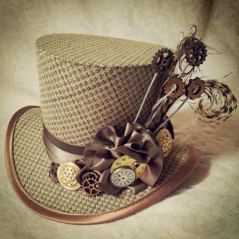 Mad Hatter Alice In Wonderland Steampunk Hat Mini Top Hat