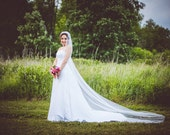Wedding Veil Cathedral Length Ivory Tulle