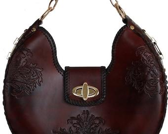 Tooled Leather Handbag - Vail