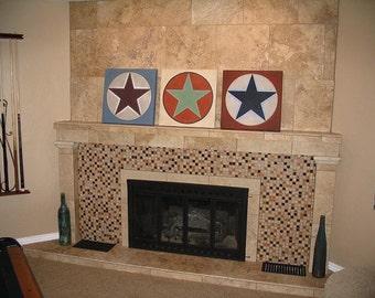 TriStar - Original Painting  - Acrylic on Masonite 3 Panels