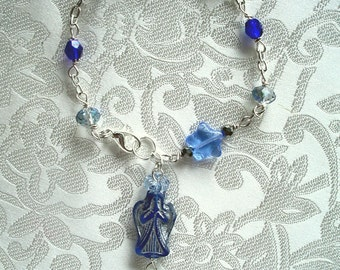 Blue Angel Anglican Rosary Bracelet