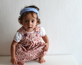 Girls Jumper Dress /  spring summer clothes / Girls sundress/ toddler smock dress