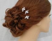 Bridal Hair pins, Rose Gold Wedding Hair clip, Gold, Vintage style hairpins, Swarovski crystal hair comb, Rhinestone, Piper Hair Pins
