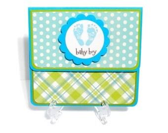 Boy: Gift Card Holder, Gift Card Envelope, Gift Card Box, Money Holder with Matching Embellished Envelope