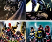 "11x17"" Bat Family Heroes (4 DIFFERENT prints- INDIVIDUALLY or as a SET)"