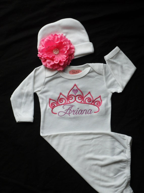 Items similar to Personalized Baby Girl Clothes Layette