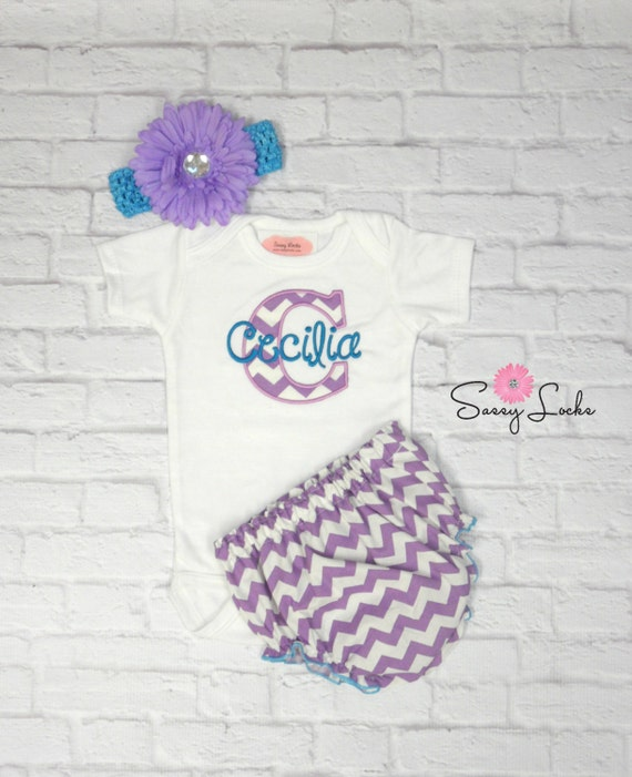 Baby Girl Clothes Personalized Girl Take Home Outfit by