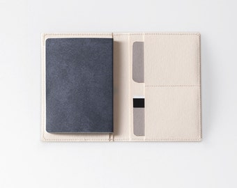 Travel Wallet / Minimalist Washable Paper Passport Sleeve in Riambel White / Vegan Paper Passport Sleeve