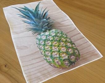 Pineapple Tea Towel. Linen Cotton. Modern Housewares