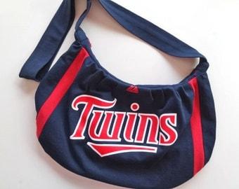 Minnesota Twins Hobo Bag Slouch Purse Tote