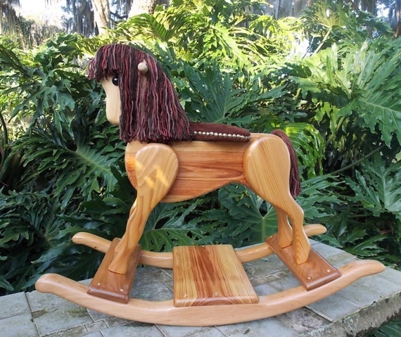 Items Similar To Handcrafted Wooden Rocking Horse-Heritage