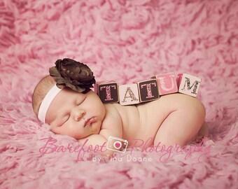 Baby Headband..Baby Flower Headband..Baby Girl Flower Headband..Pink and Brown Headband..Brown and Pink Flower Headband..Brown Headband baby