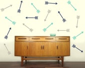 Shooting Arrow Decals - Set of 10 - Vinyl Wall Decal Stickers