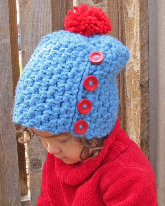 CROCHET PATTERN Button Up a slighly slouchy hat by TheHatandI