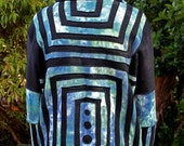 ON SALE WAS 200 Spiral Out Males Hoodie Hand Dyed Organic Hemp Cotton