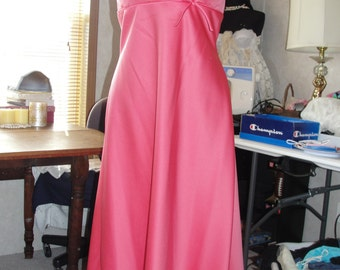 Maxi gown with high/low hem