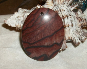"Red Picture Jasper Gemstone pendant or focal bead- 45 x 35 mm- ( 1.75"" x 1.25"") RPJ-9n4 (1 piece)"