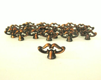 Small Cabinet Knobs Drawer Pulls Antique Copper Finish 1960s