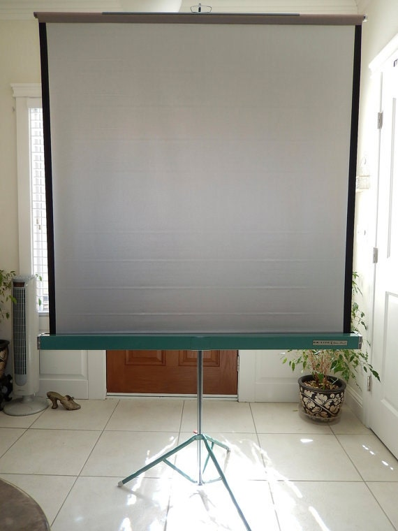 Vintage Projection Screen Da Lite Movie By Vintagetreasuresrus