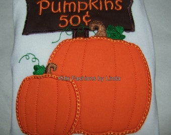 Pumpkins for Sale White T-Shirt or Bodysuit -Great For Pumpkin Patch
