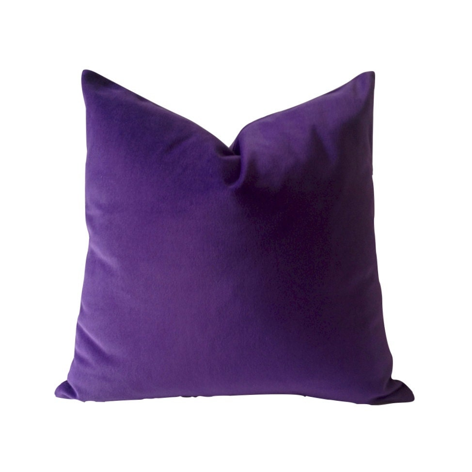 Purple Velvet Decorative Pillows : Purple Cotton Velvet Pillow Cover Decorative Accent Throw