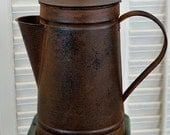 Primitive Rusty Coffee Pot 8 inch, kitchen decor, primitive pot